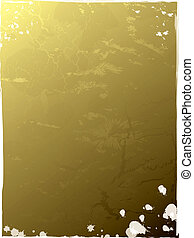 gold leaf - An abstract golden background in cracked gold...