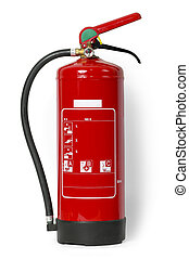 Fire Extinguisher - Red fire extinguisher with Clipping...