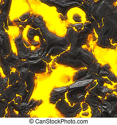 hot molten lava - A 3d illustration of some hot flowing...