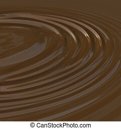 Coco Liquid - Smooth liquid chocolate background that looks...
