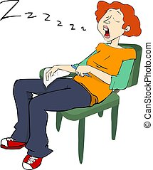 Pretty Student snoring - Pretty Student, snoring in the...