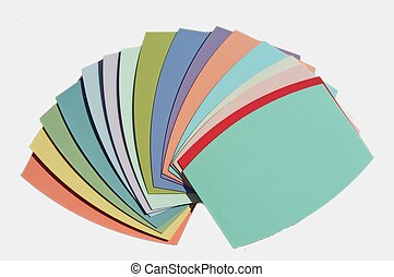 paint samples - paint swatches of different colors