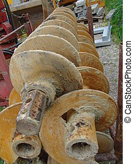 driller 001 - A detail view at earth drillers.
