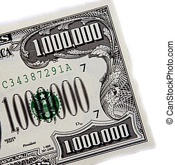 million in one - a million dollar bill