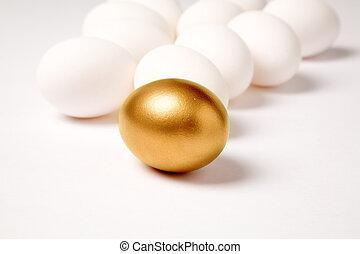 dourado, ovo