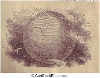 Celestial Bodies - very old engraving circa early 1800