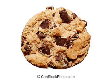 Chocolate Chip Cooki - Chocolate chip cookie with clipping...