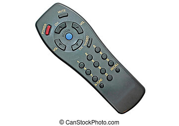 Tv Remote Control - Tv remote control with clipping path.