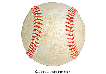Baseball Isolated - Old baseball with clipping path