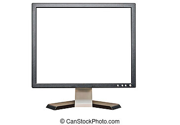 Computer Monitor - Computer monitor with blank screen for...