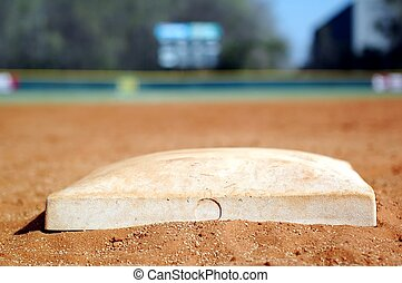 Second Base - Second base on baseball diamond