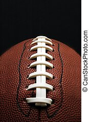 American Football - Closeup of American football Isolated on...