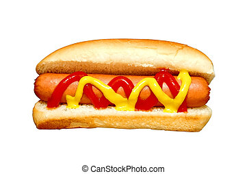 Hot Dog - Hot dog with clipping path.