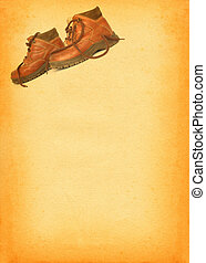 boots on retro background #2