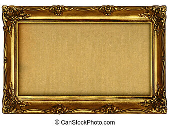 empty painting isolated on white background