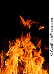 Flame - Abstract view of real fire and flames