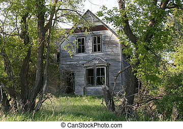 Haunted House - Abandoned house in the country.
