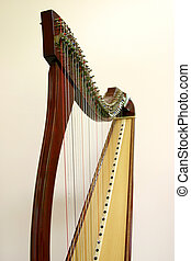 Harp - Detail of a professional harp