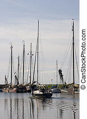 old harbour - harbour of Enkhuizen, netherlands