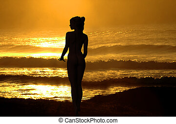 Woman on a sunset