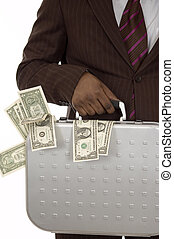 Mr.Money - This is image of businessman with a briefcase of...