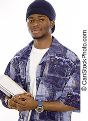 Confident Student - Young handsome student holding books.