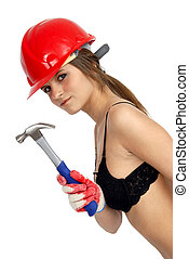 female worker - female construction worker