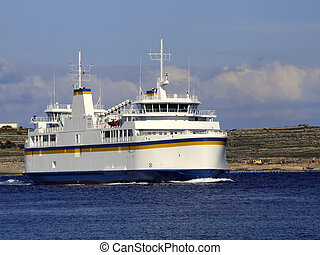 Ferry Boat - Passenger ship carrying cargo & vehicles...