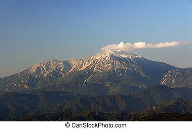 Der Schneeberg erwacht - ...in der Morgensonne. Fotografiert...