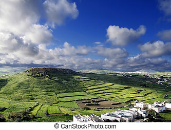 Island of the Three Hills - Landscape countryside scenery in...