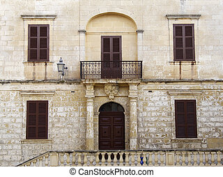 Imposing Facade - Imposing Baroque Architecture on medieval...