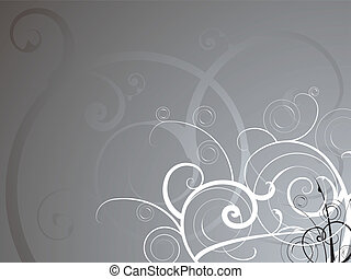 silver flow - Abstract background in silver and white with a...