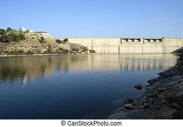 Murcia Dam - A Dam on a lake in Murcia, Spain