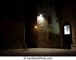 Medieval City of Mdina by Night - Series of photos taken in...