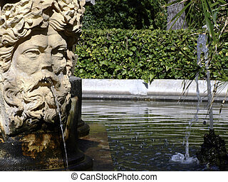 Garden Decor - Fountain detail - sculptures of various types...