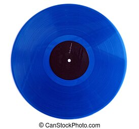 old blue record - blue vinyl LP record
