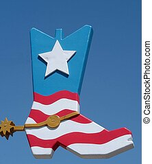 lonestar boot - cowboy boot with red white and blue