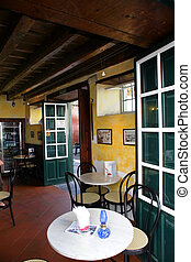 Old green cafe