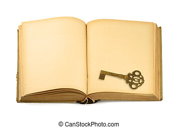 key on old book