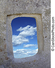 Neolithic Temple - Window to the sea in The oldest...