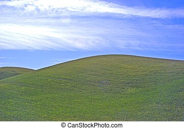 green hills blue sky - green hills and bue skys