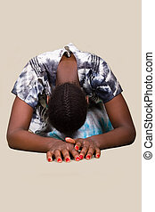 African Christian woman - Young woman Zimbabwe, traditional...