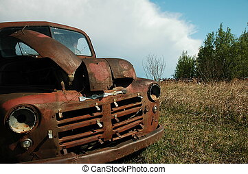 Abandoned Dodge Truck 2 - Abandoned Dodge Truck on the...