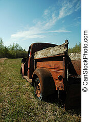 Abandoned Dodge Truck 3 - Abandoned Doage Truck on the...