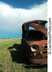 Abandoned Dodge Truck 4 - Abandoned Dodge Truck on the...