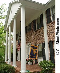 Flag on Veranda - Colonnade sporting WVU flag