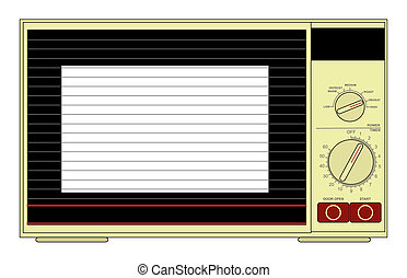 Microwave - Illustration of a microwave oven