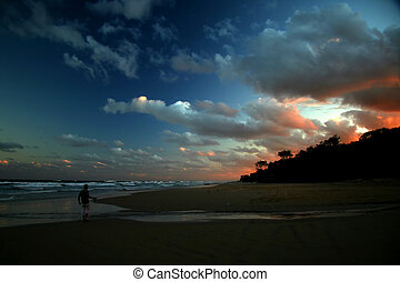 Sunset in paradise - Sunset at Fraser island Australia