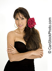 384 Brazilian Beauty - Beautiful Brazilian or Hispanic woman...