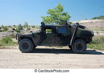 militar, veículo